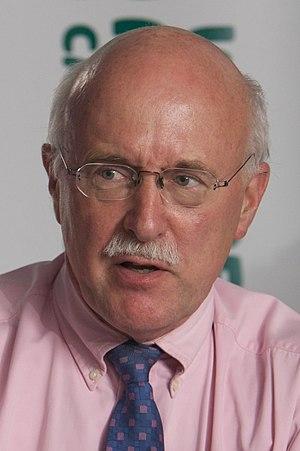 English: Michael White, British journalist, du...