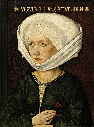 Michael Wolgemut - Portrait of Ursula Tucher, 1478