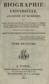 Michaud - Biographie universelle ancienne et moderne - 1811 - Tome 8.djvu