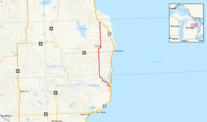 F-41 (Michigan county highway) - Image: Michigan F 41 map