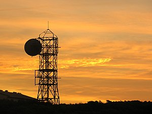 Microwave telecommunications tower, wireless network backhaul solution