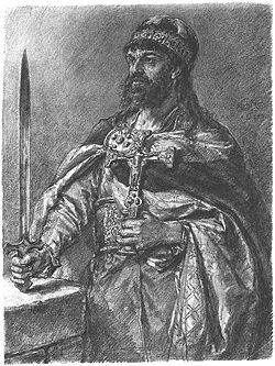 Mieszko I, as painted in 19th century by Jan Matejko