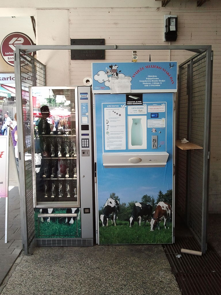 milk dispensing machine