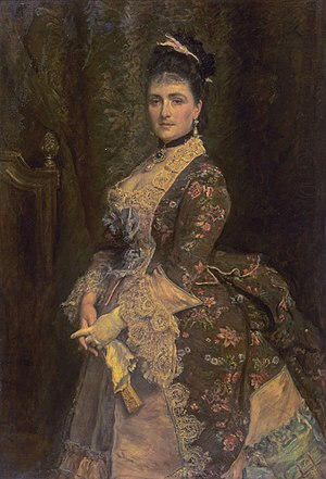 Henri Louis Bischoffsheim - Portrait of his wife Clarissa Bischoffsheim, born Biedermann, by John Everett Millais.