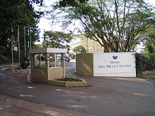 L'ingresso del complesso alberghiero.