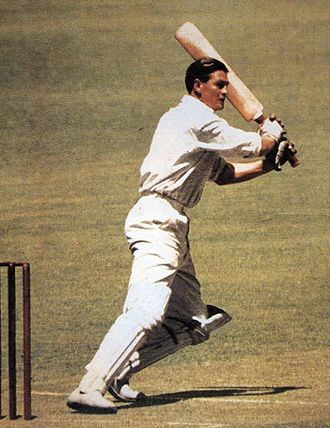 Second Test, 1948 Ashes series - Miller, pictured here in another match, scored 74 for Australia