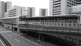 Minatojima Station Railway station in Kobe, Japan