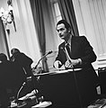 Minister Boersma achter het spreekgestoelte, Bestanddeelnr 926-8233.jpg