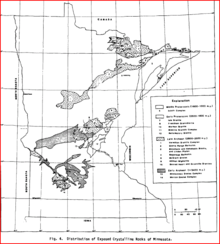 Minnesota's Distribution of Exposed Crystalline Rocks.PNG