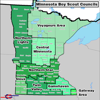 Scouting in Minnesota - BSA Councils serving Minnesota.