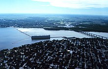 Mississippi River Lock and Dam Number 19 near Keokuk Iowa.jpg