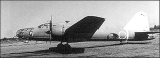 "Imperial Japanese Army heavy bomber during the Second World War given the Allied code name ""Peggy"""
