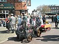 Model traction engine steaming outside The Square Brewery - geograph.org.uk - 1251386.jpg