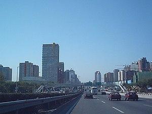 Jingtong Expressway - Jingtong Expressway near Dawangqiao and Dabeiyao (October 2004).