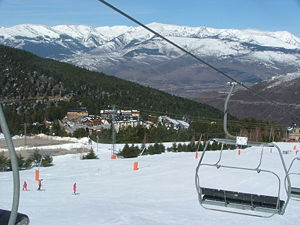 ski resorts across North America provide skiers with a marketplace to shop and compare deals - La Molina ski, Catalunya, Spain