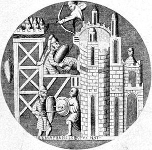 Lǫgmaðr Guðrøðarson - Image: Montfaucon, Crusading window, Basilica of St Denis