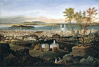 Edwin Whitefield - Montreal painted by Whitefield in 1853-54