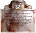 Monument HughPeterFortescue ViscountEbrington Died1942 FilleighChurch Devon.PNG