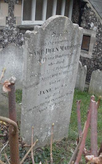 Sake Dean Mahomed - Mahomed was buried at St Nicholas' Church, Brighton.