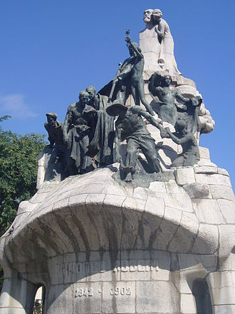 Plaça de Tetuan, Barcelona - Memorial for Bartomeu Robert, Plaça de Tetuan, Barcelona.