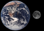 Comparison of Earth and the Moon