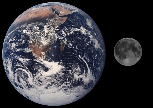 Moon Earth Comparison