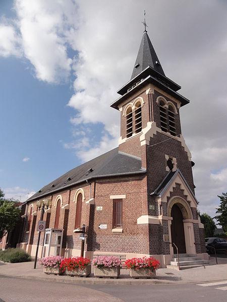 Morcourt (Aisne) église