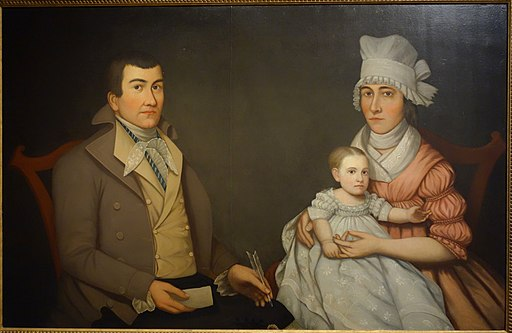Morgan Family Portrait, artist unknown, c. 1790, oil on canvas - New Britain Museum of American Art - DSC09149