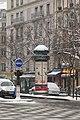 Morris column Boulevard Saint-Marcel under snow 2013-03-12.jpg
