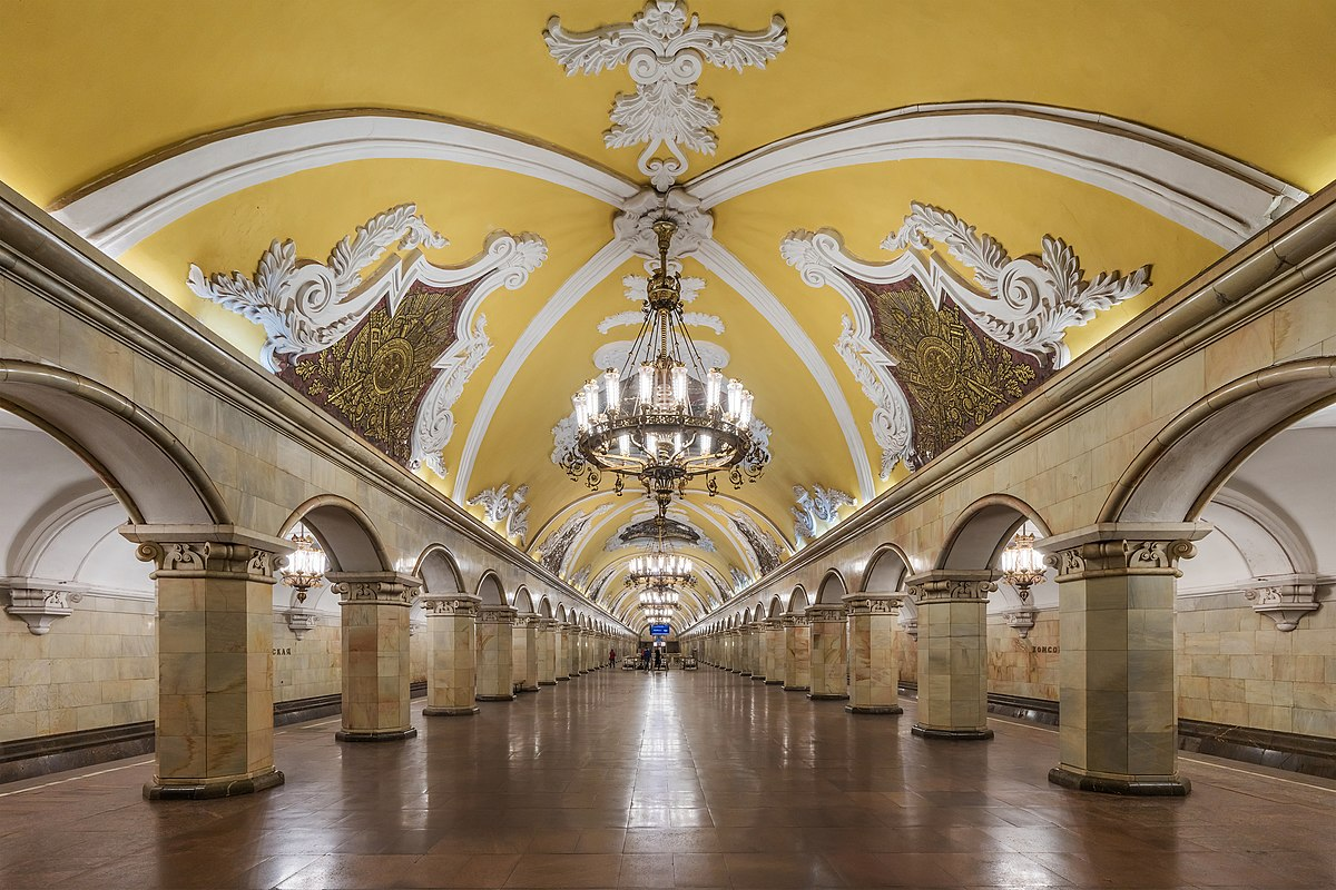 The design of the metro station Tulskaya in Moscow won the project Harmon 92