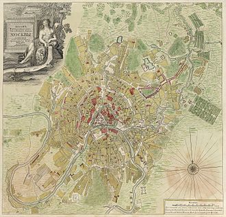 1739 in Russia - Moscow 1739 (Michurin Map)