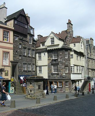 Rough Wooing - Surviving buildings in the Old Town of Edinburgh