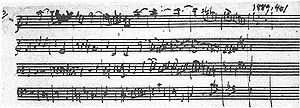 English: Mozart Autograph of hin C major flute...