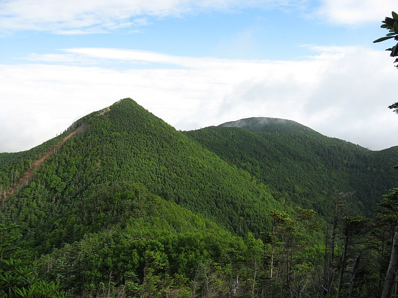 Fitxategi:Mt.Kobushigatake and Mt.Sanpou from Mt.Tokusa.jpg