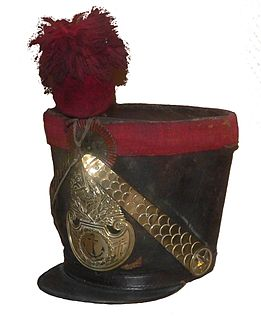 Shako tall, cylindrical military cap with a visor