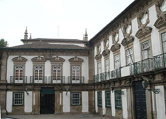 Biscainhos Museum - The interior courtyard of the residence of the Biscainhos