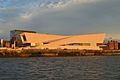 Museum of Liverpool, sunset from ferry.jpg