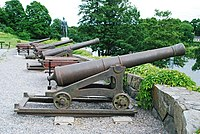 Muzzle loading cannons at the Swedish Naval Museum (6648150909).jpg