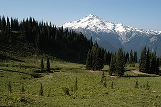 Glacier Peak - View of the northeast face from Image Lake