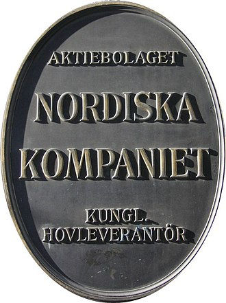 Nordiska Kompaniet - Image: NK Skylt