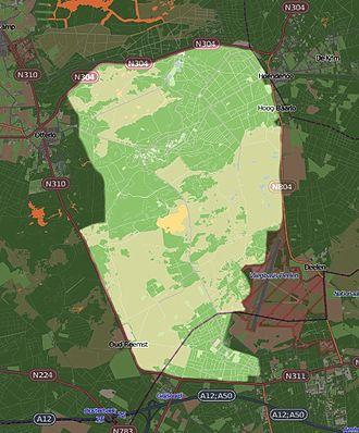 Hoge Veluwe National Park - Image: NP Hoge Veluwe Kaart