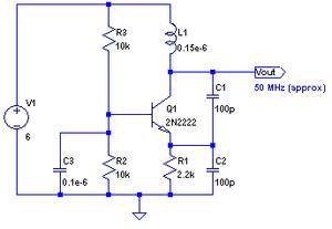 esquema oscilador cristal: