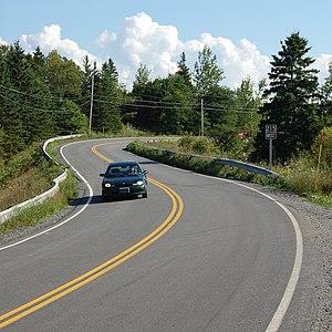 Nova Scotia Route 215 - Route 215 in Chevarie, Nova Scotia