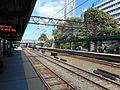 NYC-bound Amtrak train; New Rochelle Metro-North.jpg