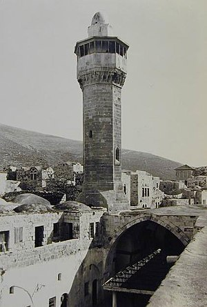 Great Mosque of Nablus - The Great Mosque's minaret