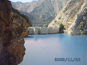 Mianwali District - A view of Namal Lake in Mianwali Salt range