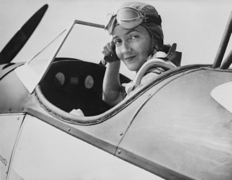 Nancy Harkness Love - Love, 28 at the controls of a Fairchild PT-19