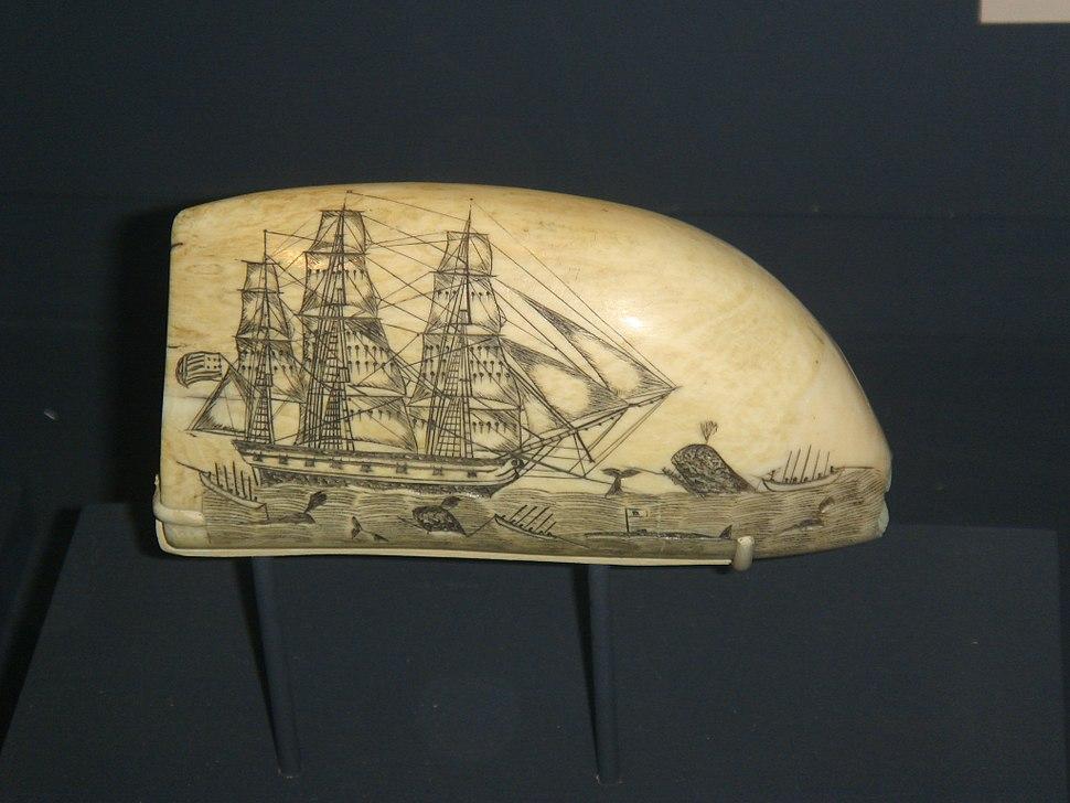 Nantucket Whaling scrimshaw E.Burdett