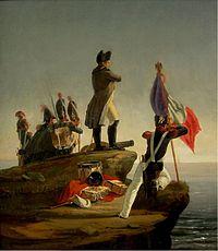 Napoleón en la isla de Elba.