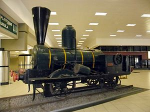 Natal Railway 0-4-0WT Natal - The reconstructed engine Natal, Durban station